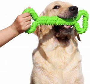 LECHONG Durable Dog Chew Toys 13 Inch Bone Shape Extra Large Dog Toy