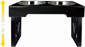 Pet Zone Designer Diner Adjustable Elevated Dog Bowls