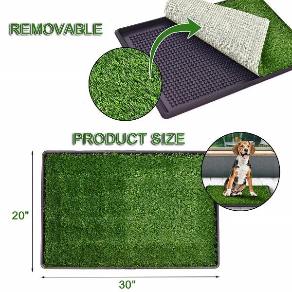 Giantex Dog Puppy Pet Potty Pad Home Training Toilet Pad Grass Surface Portable Dog Mat