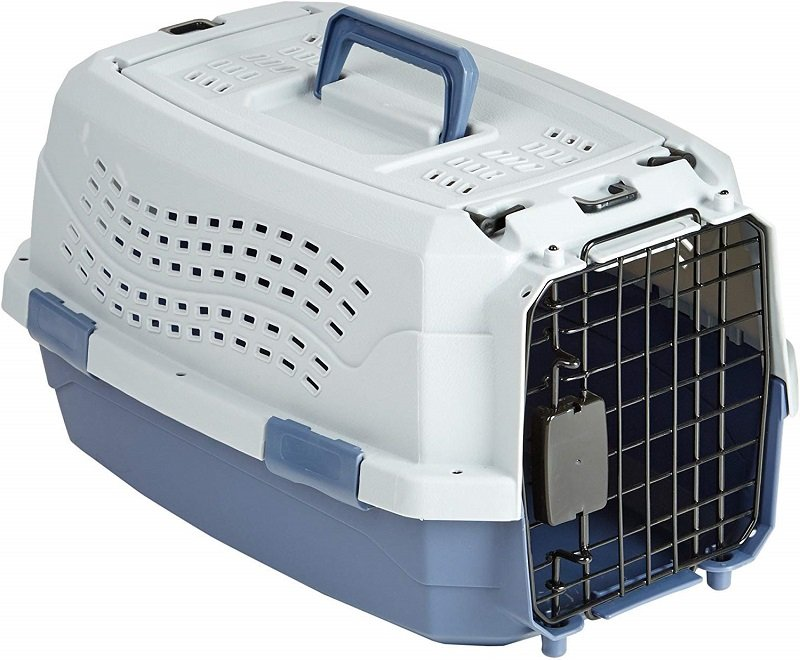 Hard-sided plastic cat cages